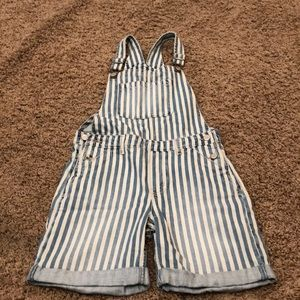 Youth Gap striped overalls size xl